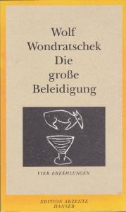 """Cover der Erstausgabe von """"Die große Beleidigung"""" 2001"""