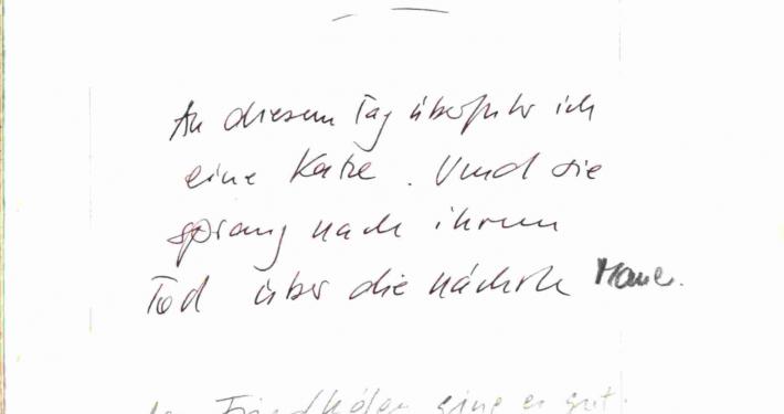 """Auszug aus Wolf Wondratscheks """"Arbeitsbuch I – wie es geht – Mittwoch"""""""