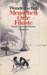 """Cover der Erstausgabe von """"Menschen, Orte, Fäuste. Reportagen und Stories"""" 1987"""