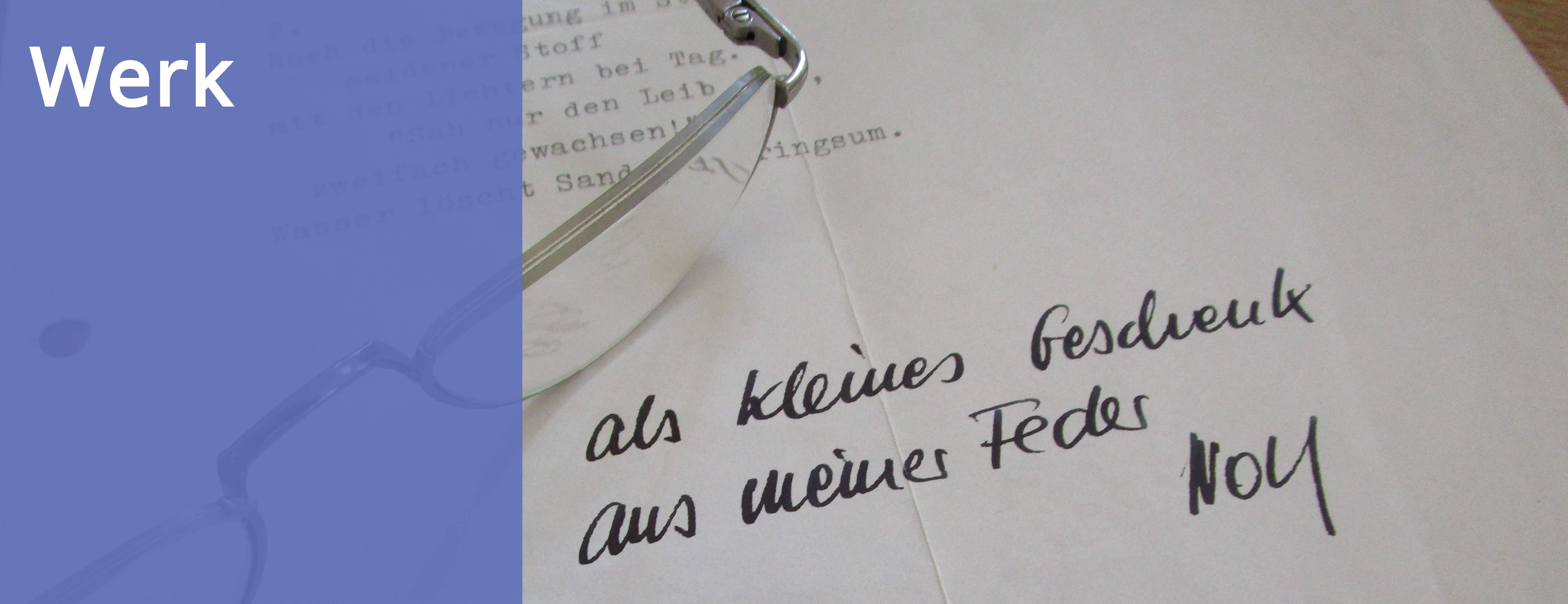 Maschinengeschriebenes Gedicht von Wolf Wondratschek mit Widmung