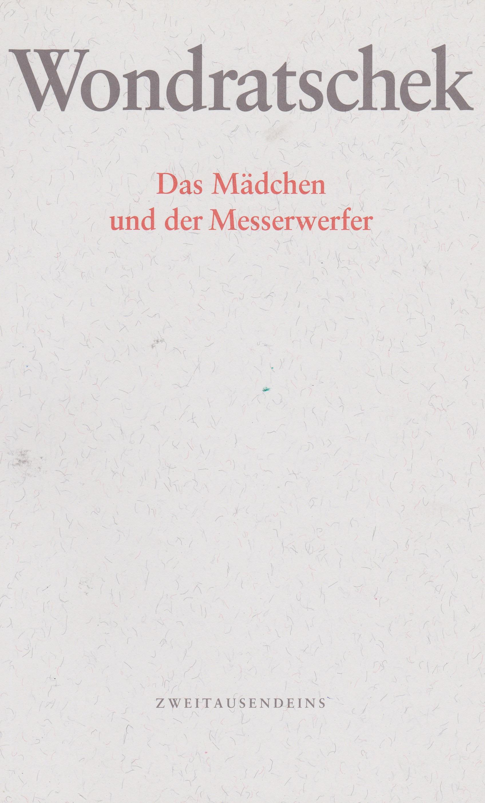 """Cover der Erstausgabe von """"Das Mädchen und der Messerwerfer"""" 1997"""