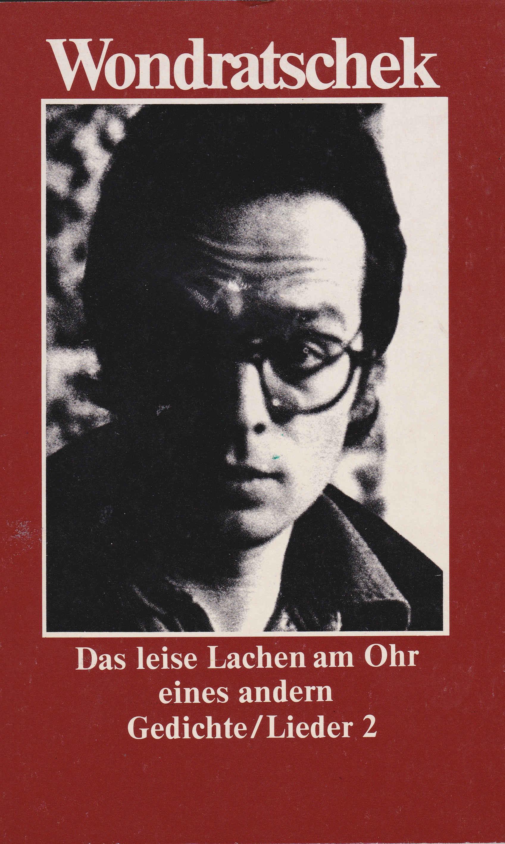 """Cover der Erstausgabe von """"Das leise Lachen am Ohr eines andern. Gedichte/Lieder 2"""" 1976"""
